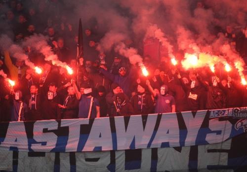 HSV-Fans mit Pyrotechnik, über dts Nachrichtenagentur