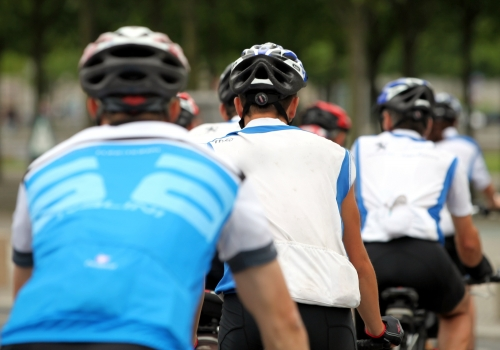 Rad-Rennfahrer mit Fahrradhelm, über dts Nachrichtenagentur
