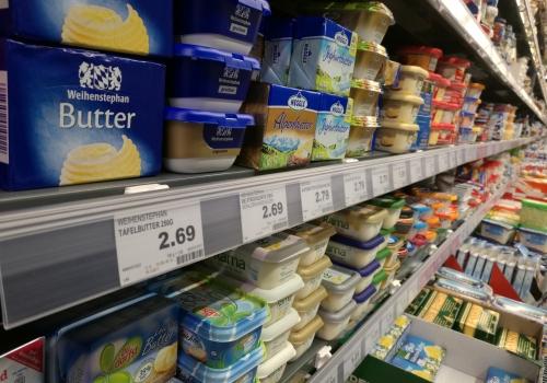 Butter in einem Supermarkt, über dts Nachrichtenagentur