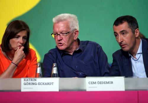 Katrin Göring-Eckardt, Winfried Kretschmann und Cem Özdemir, über dts Nachrichtenagentur