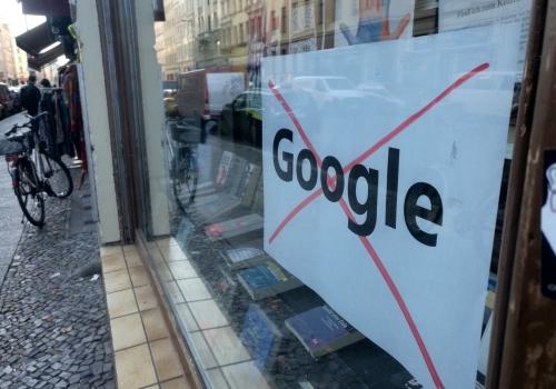 Protest gegen Google, über dts Nachrichtenagentur