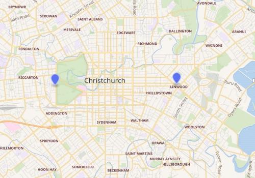 Terrortatorte in Christchurch am 15.03.2019, Openstreetmap, über dts Nachrichtenagentur