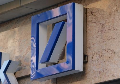 Deutsche Bank-Logo, über dts Nachrichtenagentur