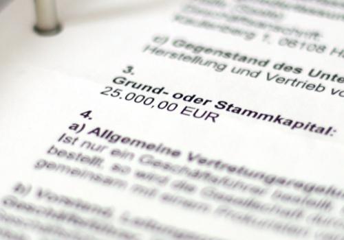 Gewerbeanmeldung einer GmbH, über dts Nachrichtenagentur