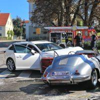Wain, VU mit Porsche Oldie 356
