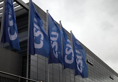 CSU-Fahnen, über dts Nachrichtenagentur