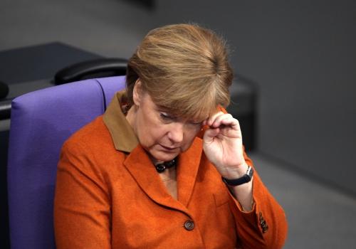 Angela Merkel reibt ihr Auge, über dts Nachrichtenagentur