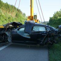 2020-05-21_A96_Neuravensburg_Weissensberg_Unfall_Schwer_Polizei_Bergung_Poeppel_DSC01743
