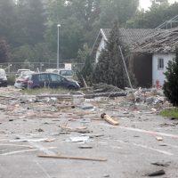Günzbugr  Gebäude explodiert