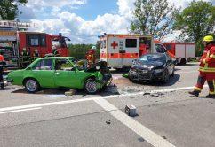 21.06.2020 Unfall B312 Frontal Feuerwehr Rettungsdienst (1)