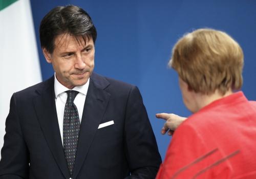 Giuseppe Conte und Angela Merkel, über dts Nachrichtenagentur