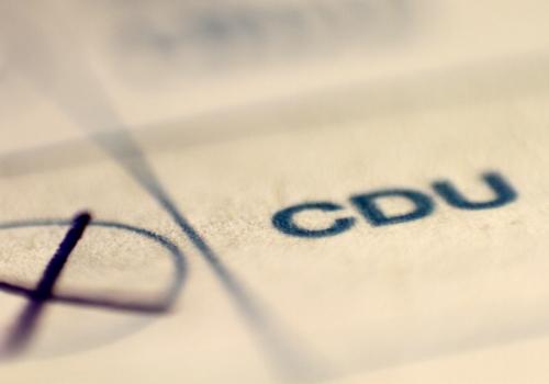 CDU auf Stimmzettel, über dts Nachrichtenagentur