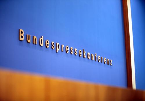 Bundespressekonferenz, über dts Nachrichtenagentur