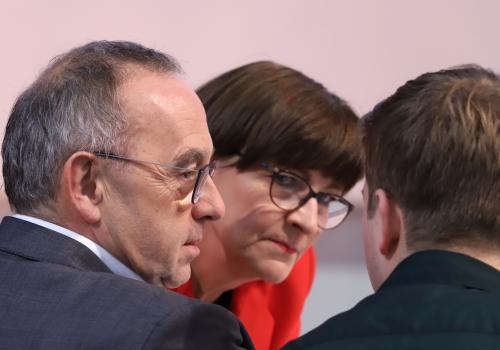 Norbert Walter-Borjans, Saskia Esken, Kevin Kühnert, über dts Nachrichtenagentur