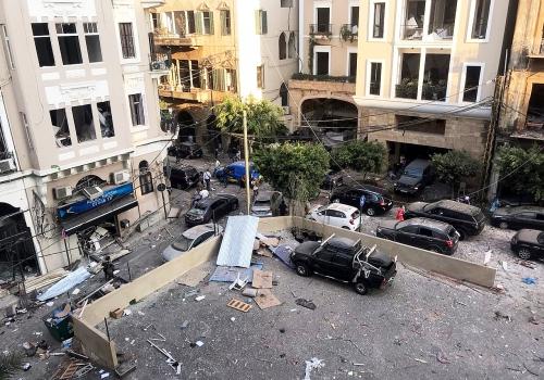 Beirut nach der Explosion am 04.08.2020, VOA, über dts Nachrichtenagentur