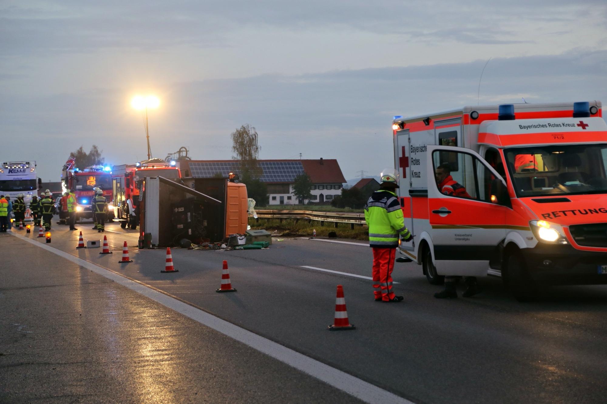 Baustelle A7 Memmingen