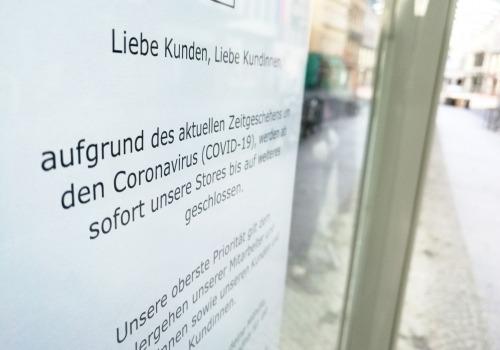 Wegen Coronakrise geschlossener Laden, über dts Nachrichtenagentur