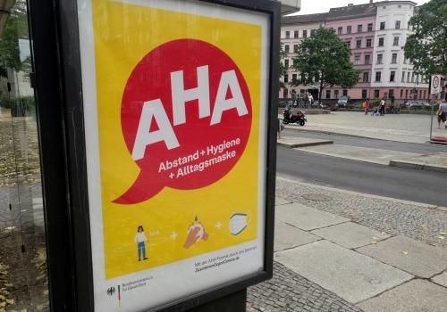 Werbung für AHA-Regeln, über dts Nachrichtenagentur