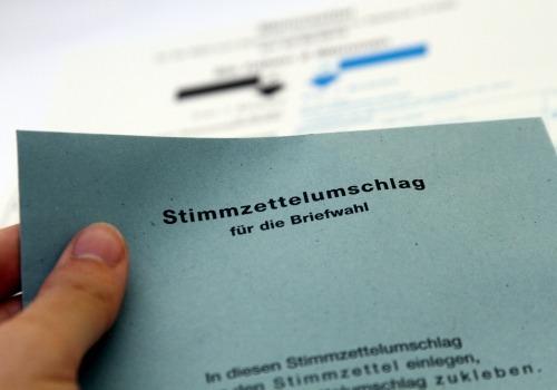 Stimmzettelumschlag für die Briefwahl, über dts Nachrichtenagentur