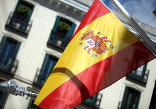 Spanische Fahne, über dts Nachrichtenagentur