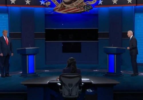 TV-Duell Trump/Biden am 22.10.2020, über dts Nachrichtenagentur