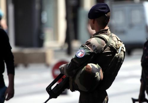 Französischer Soldat in Nizza, über dts Nachrichtenagentur