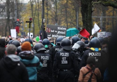 Corona-Protest am 18.11.2020, über dts Nachrichtenagentur