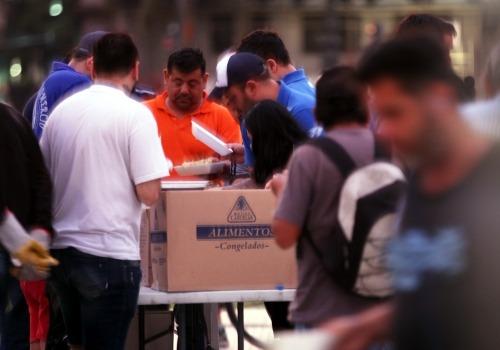 Nahrungsmittelausgabe in Argentinien, über dts Nachrichtenagentur