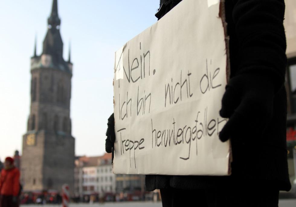 Demonstrantin gegen Gewalt an Frauen, über dts Nachrichtenagentur
