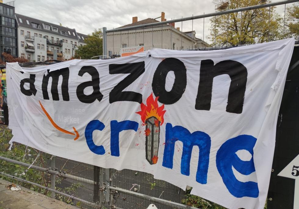 Protest gegen Amazon, über dts Nachrichtenagentur