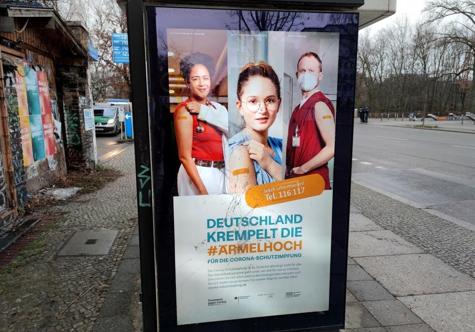 Werbung für Impfkampagne, über dts Nachrichtenagentur