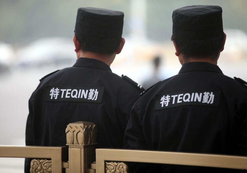 Sicherheitskräfte in Peking, über dts Nachrichtenagentur