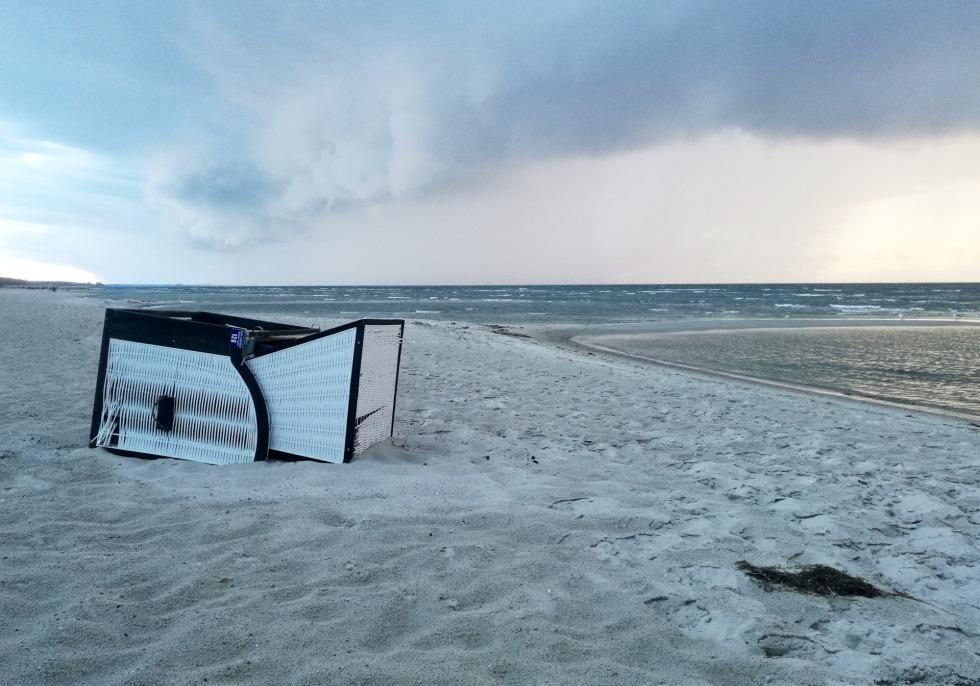 Umgekippter Strandkorb, über dts Nachrichtenagentur
