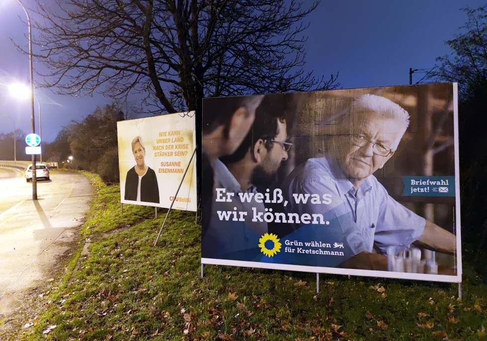 Wahlplakate zur Landtagswahl in Baden-Württemberg 2021, über dts Nachrichtenagentur