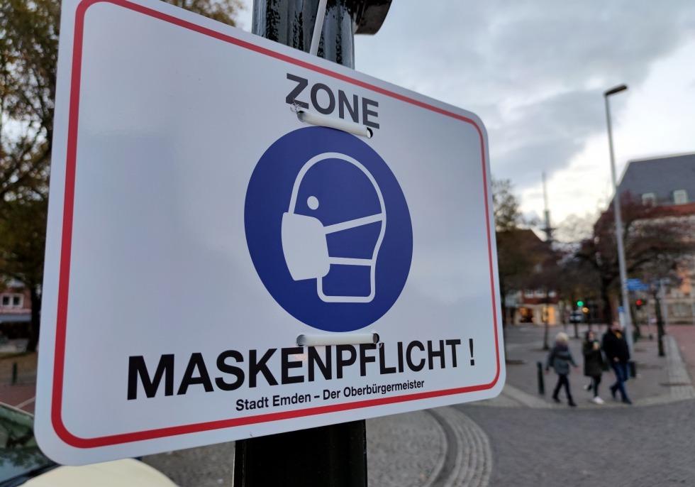 Maskenpflicht in der Innenstadt von Emden, über dts Nachrichtenagentur